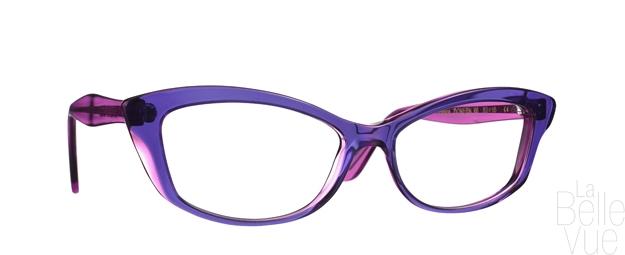 Opticien Paris - Caroline Abram - Doreen - Bleu Violet - La Belle Vue